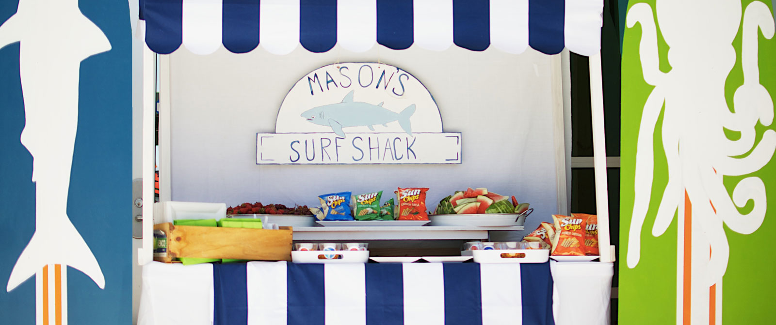 Dual Birthday Party: Surf Shack and Underwater Adventure