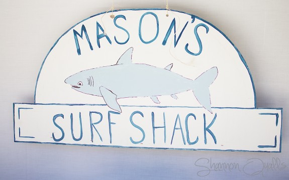 Pottery Barn Kids Inspired Surf Shack Sign
