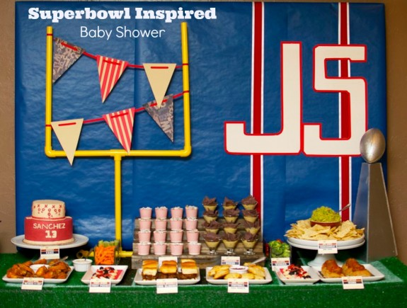 Superbowl Inspired Baby Shower partiesandpottytraining.com