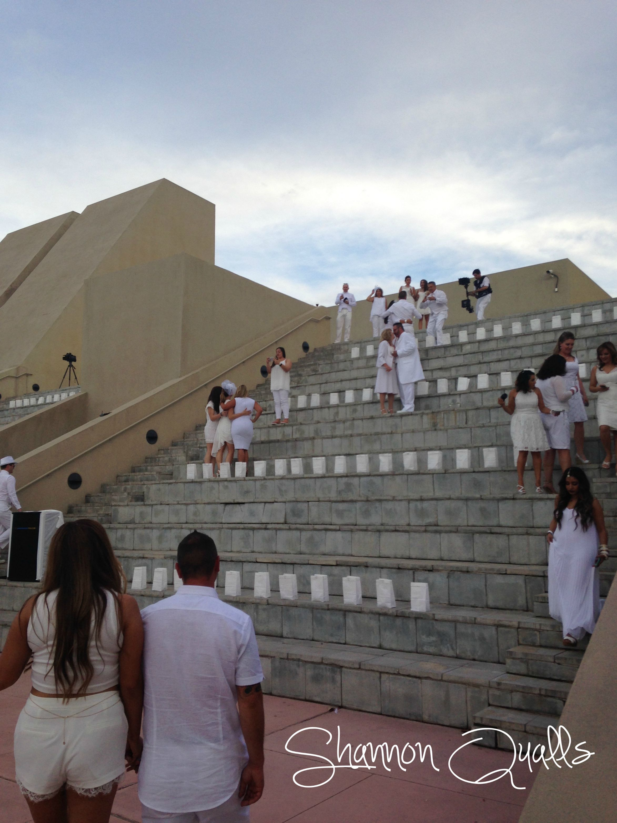 The stairs of the Hispanic Cultural Center from Diner en Blanc Albuquerque from shannonqualls.com