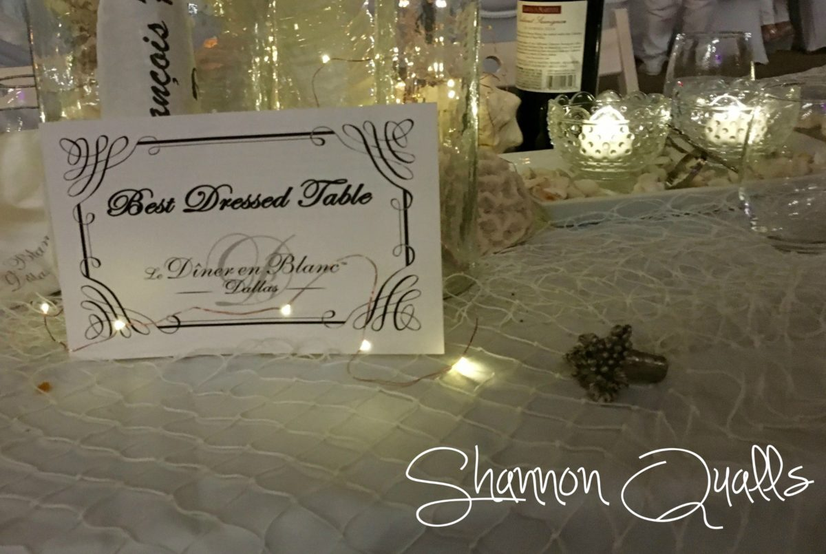 Best Dressed Table from Diner en Blanc Dallas from shannonqualls.com