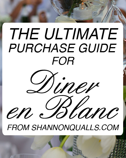 Purchase List for Diner en Blanc
