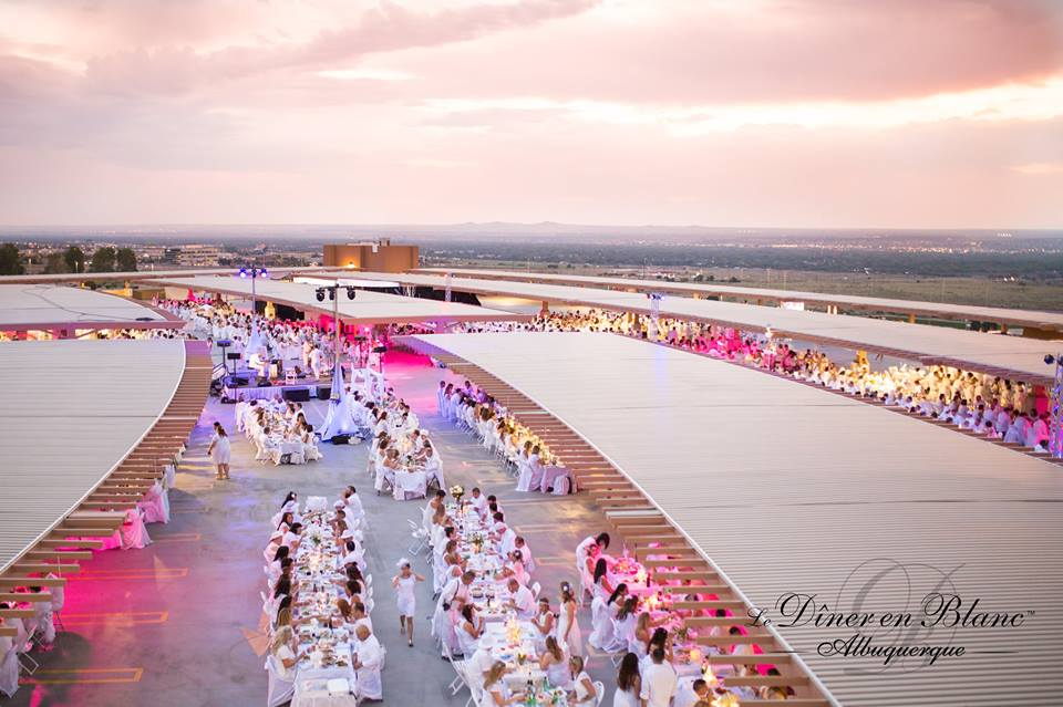 Aerial View of Diner en Blanc Albuquerque picture courtesy of DEB ABQ from shannonqualls.com