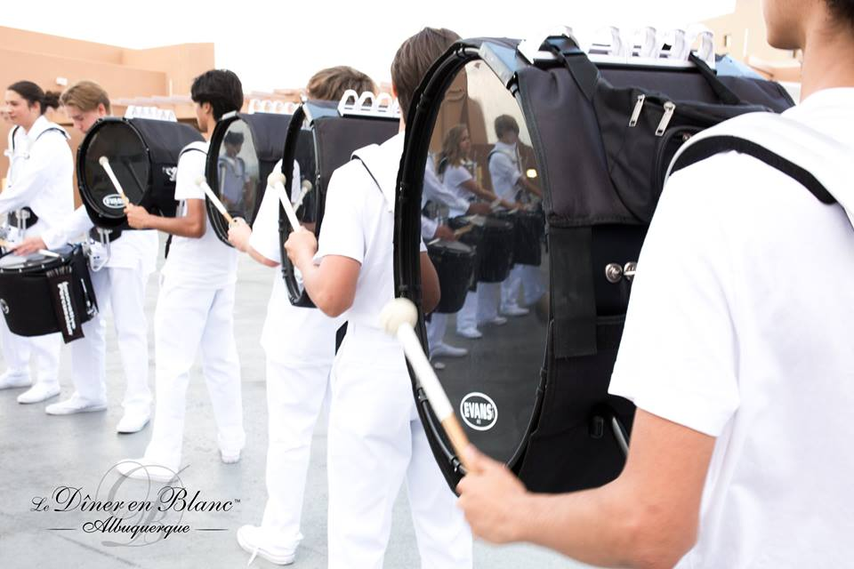 Greeted by WOW Factor Number One of the Evening for Diner en Blanc Albuquerque- Photo Courtesy of DEB ABQ from shannonqualls.com