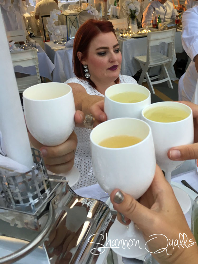Cheers to a great evening at Diner en Blanc from shannonqualls.com