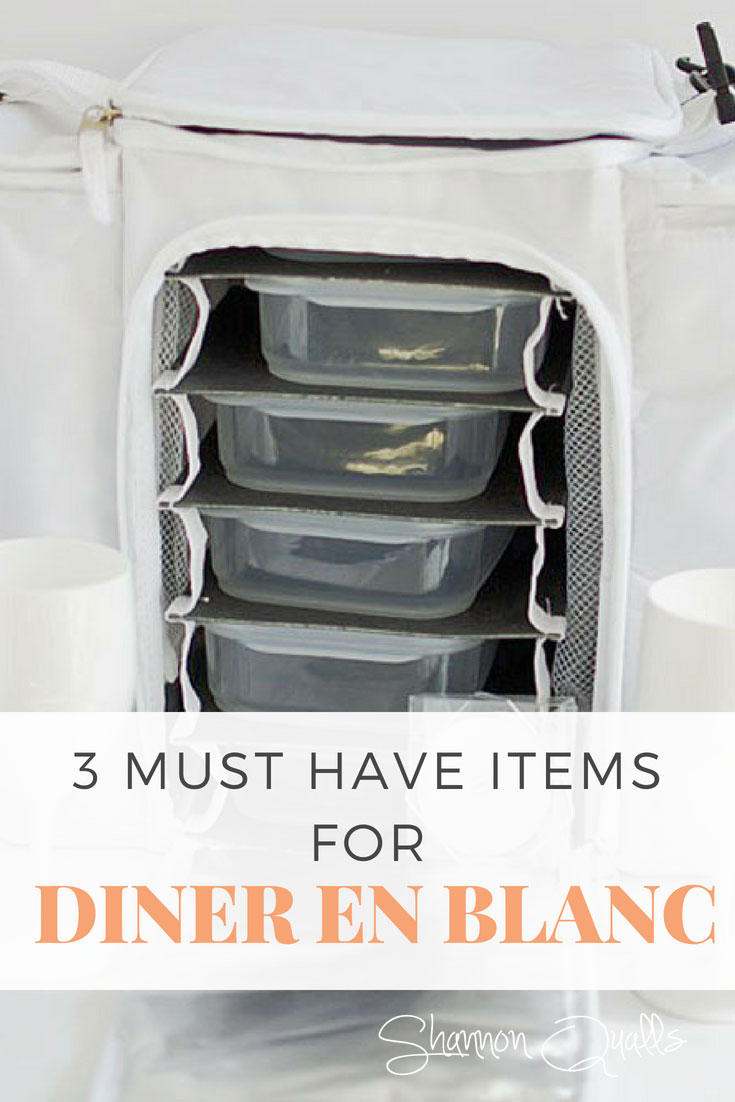 3 Must Haves for Diner en Blanc #dinerenblanc